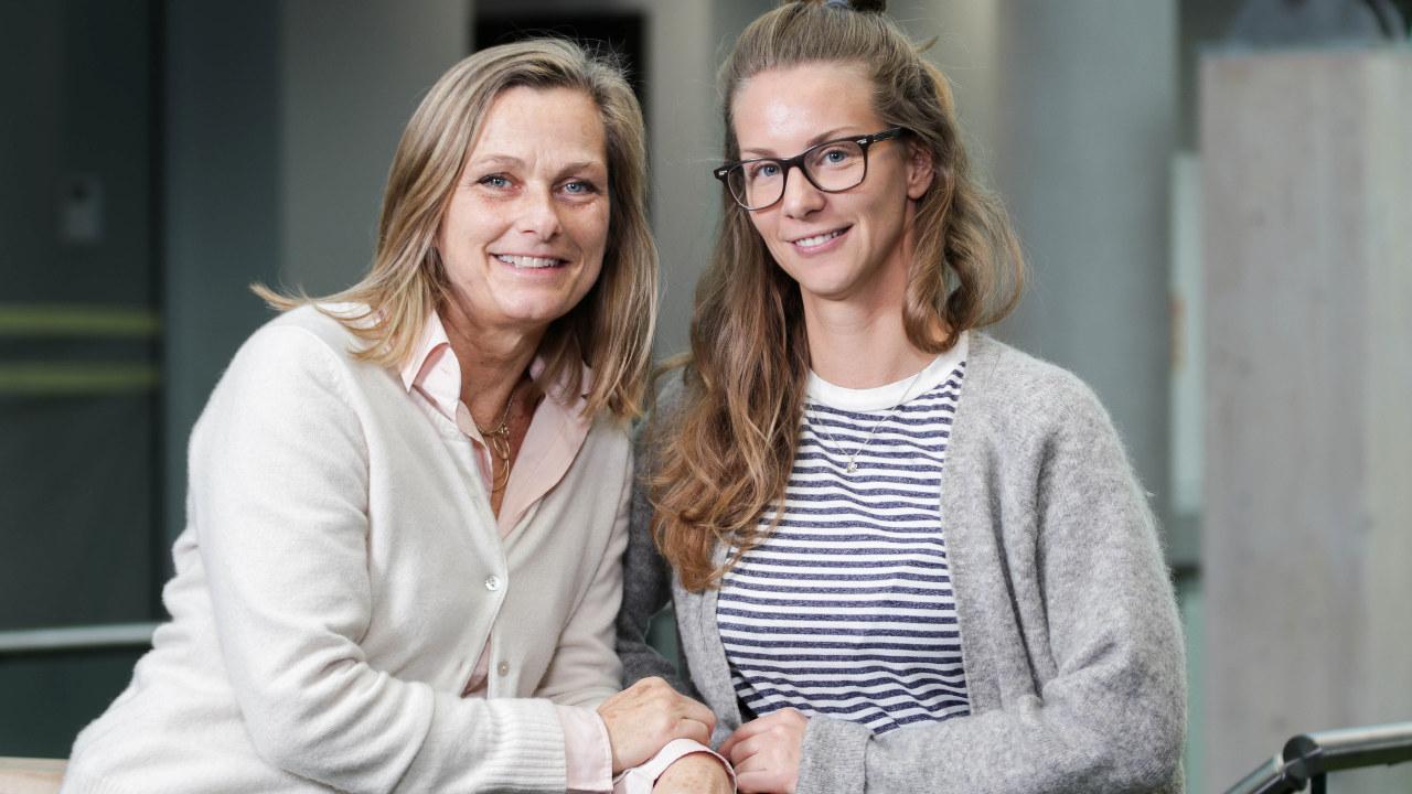 HR-direktør Hege Sitje og HR-partner Ida Daffinrud i Geodata.
