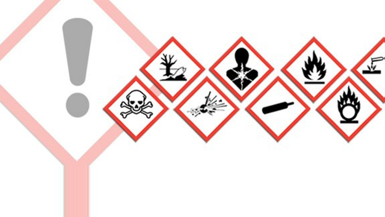 Illustrasjon av nye faresymboler i CLP
