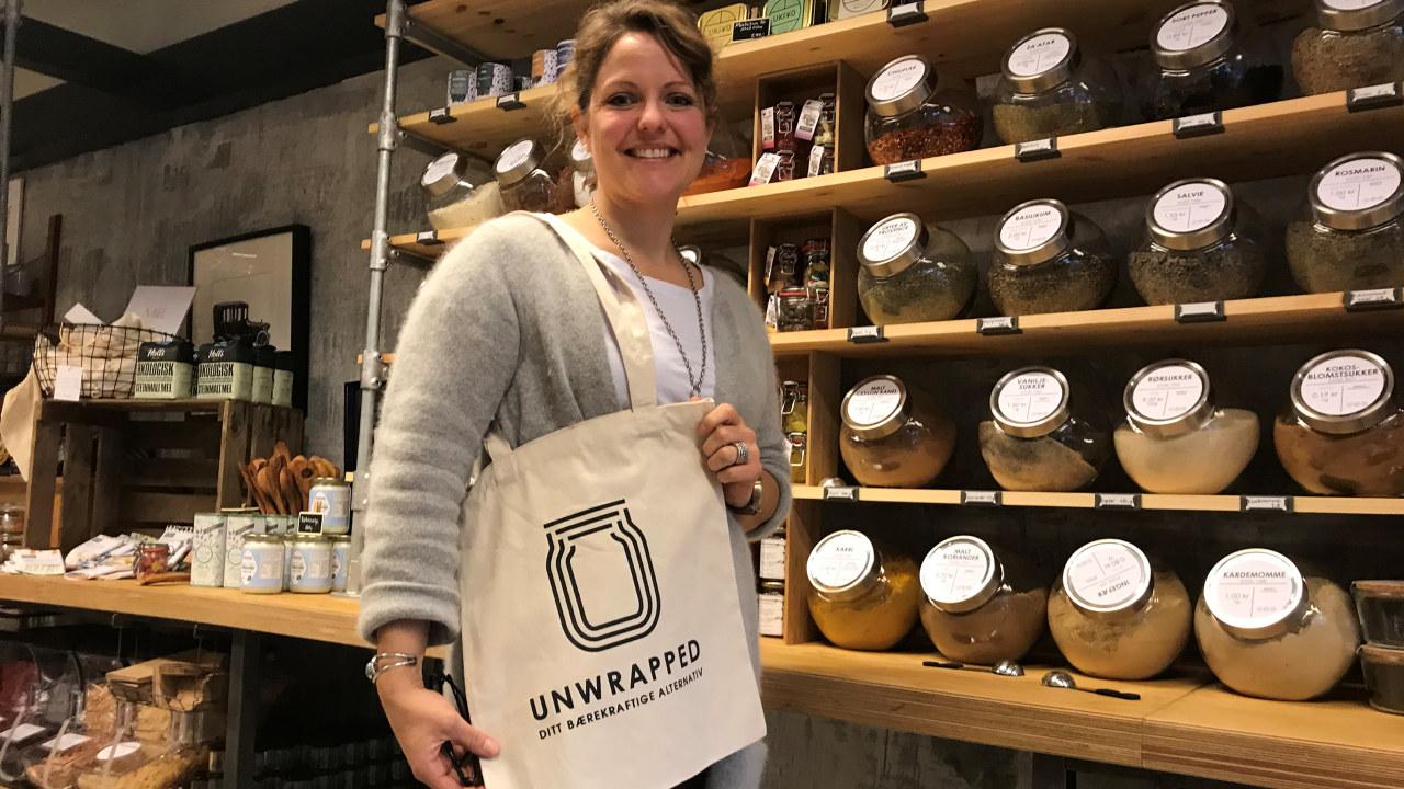 Megan Strand er grunderen bak butikken Unwrapped. Det tok bare fire måneder før hun kunne glede seg over overskudd på driften.