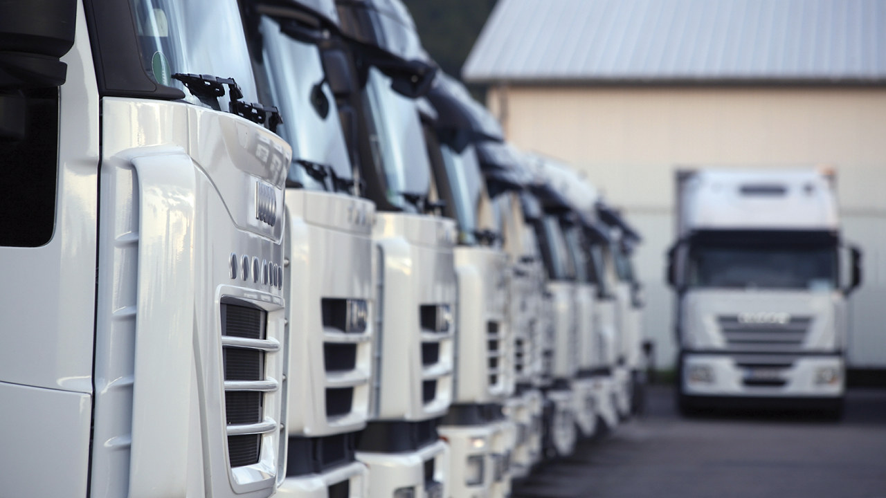 Oppstilling av lastebiler