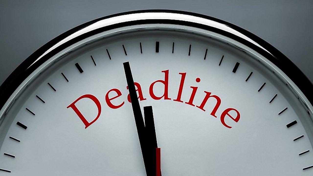 Klokke som tikker mot deadline