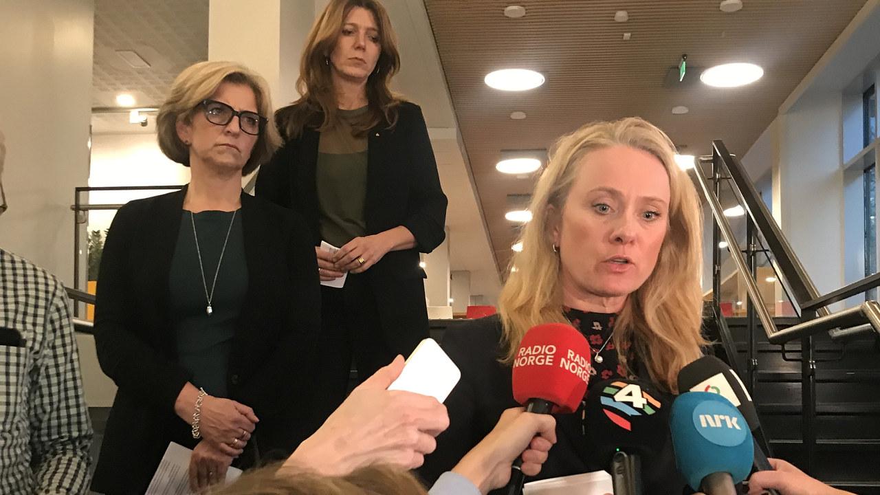 Anniken Hauglie møter pressen