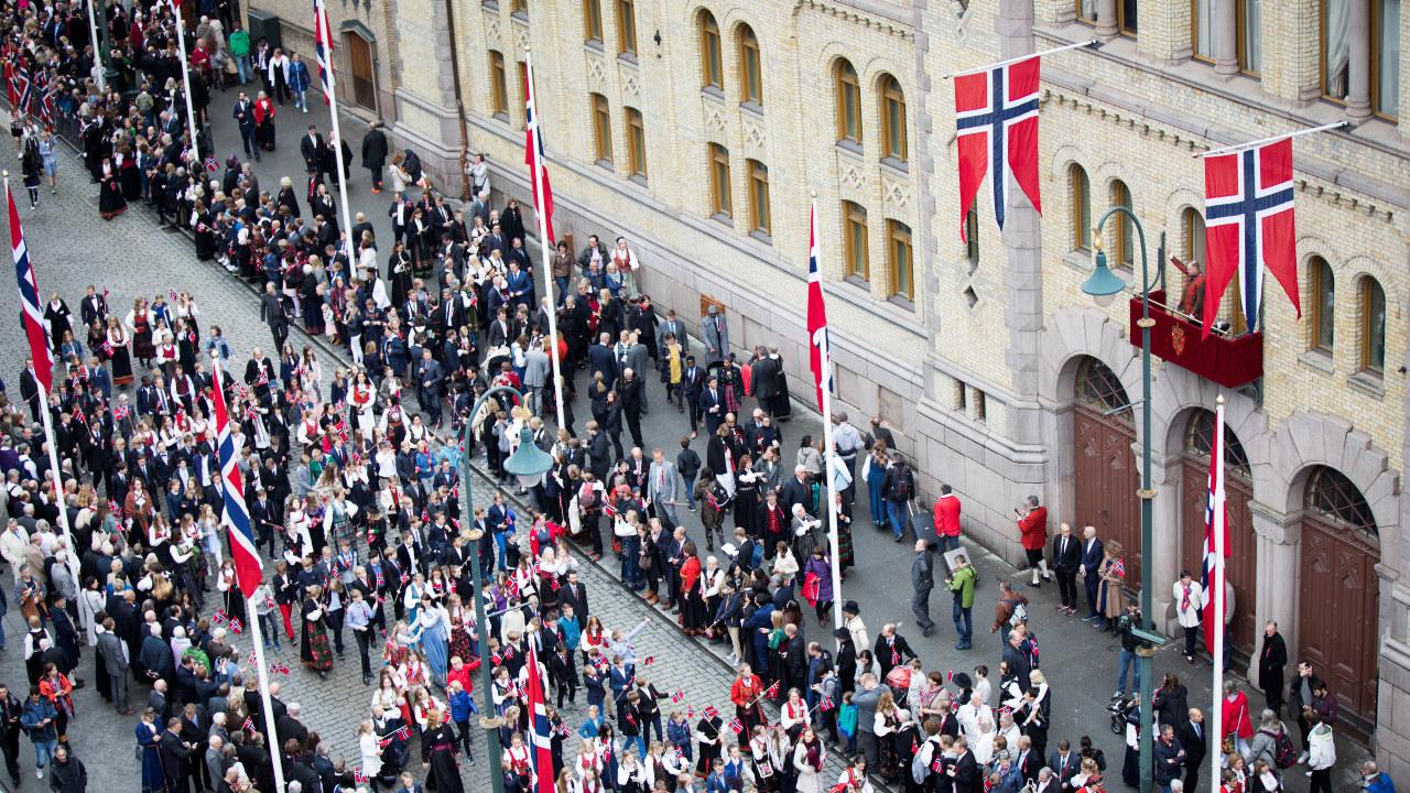 Barnetoget i Oslo på 17. mai