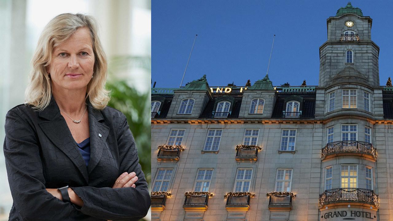 Collage Kristin Krohn Devold og Grand Hotell. Begge foto: Per Sollermann.