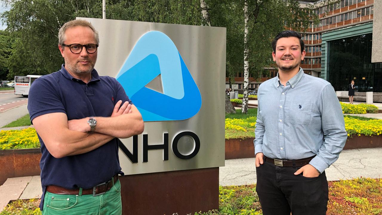 Morten Gösta Jansson og Frederick Hjertø jobber i NHO Viken Oslo