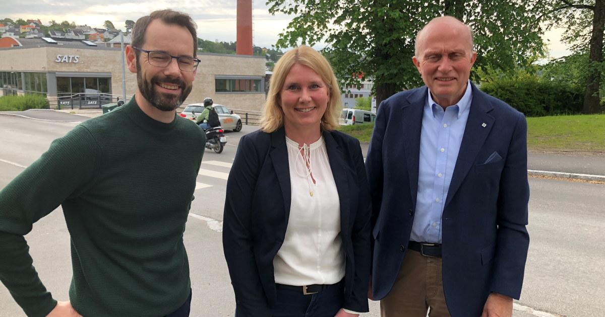 Varden og NHO Vestfold og Telemark Tom Erik Thorsen Nikolai Boye og Hege Pflug