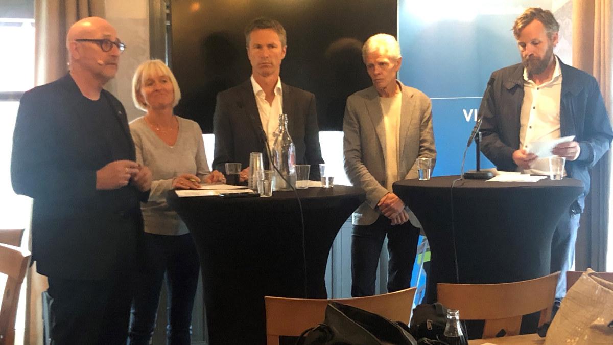 Fra ra venstre: Espen Lynghaug, Ragnhild Lied, Arly Hauge, Håkon Høst og Kjetil Tvedt.