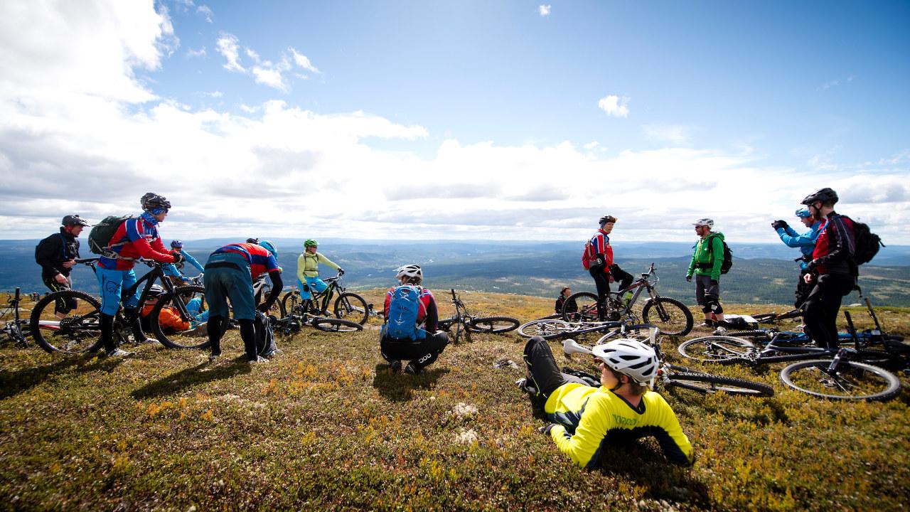 Sykkeltur på fjellet