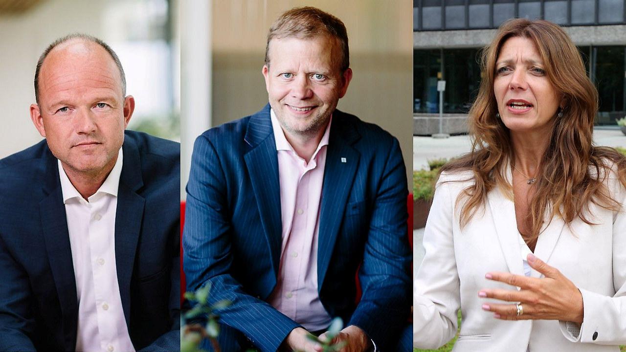 Tre ledere