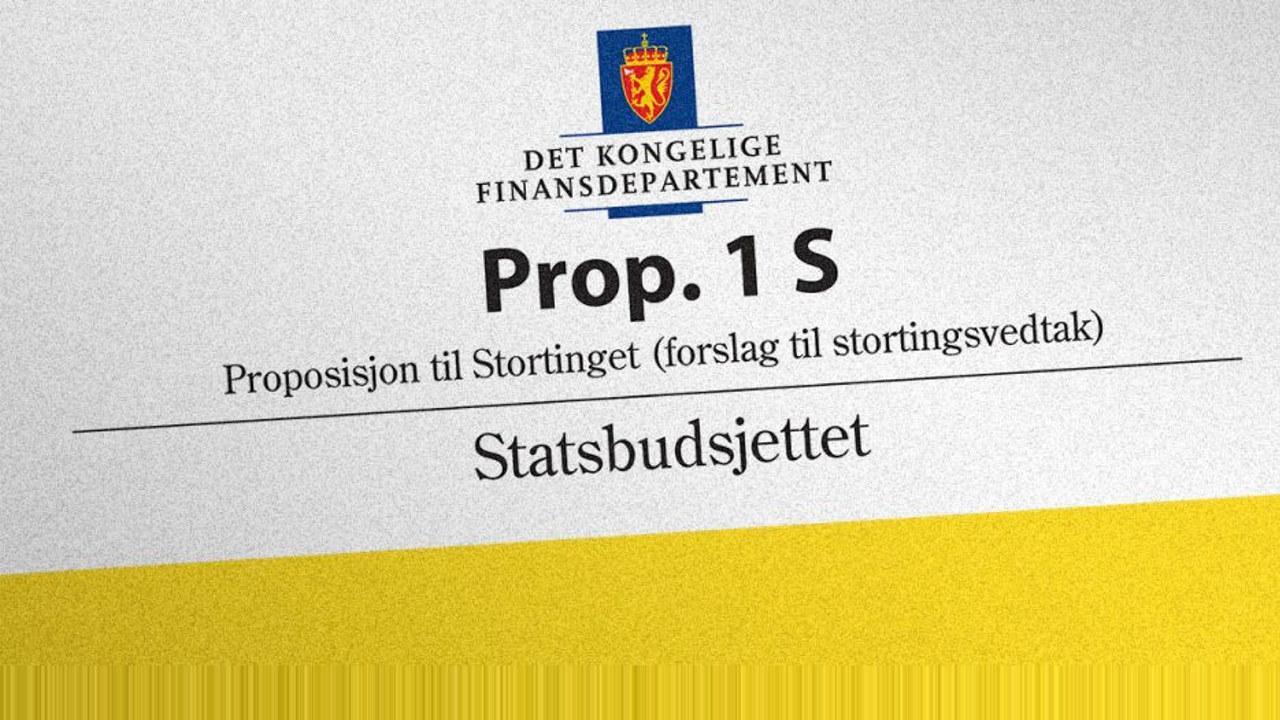 Forslaget til statsbudsjett for 2020 er  fram av regjeringen