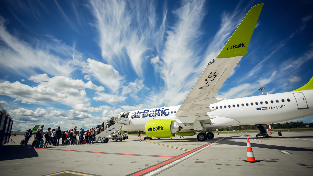 Fly fra airBaltic