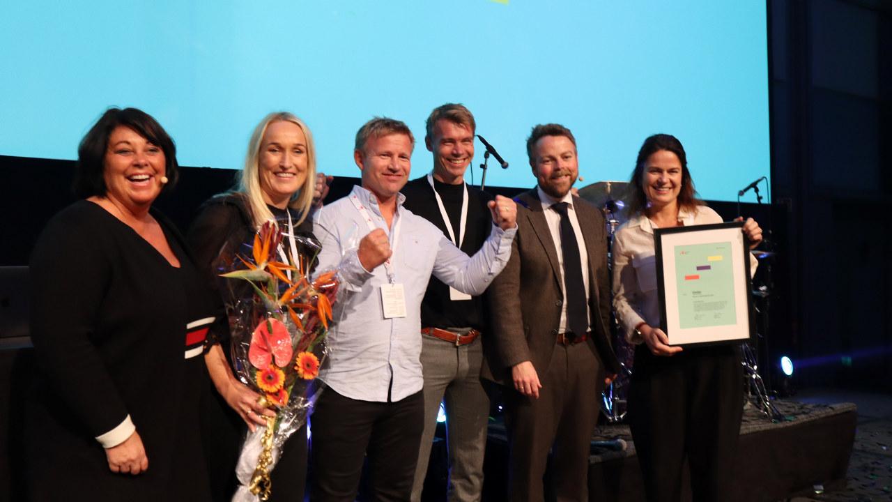 Under ble tildelt Reiselivsprisen 2019 under Innovasjon Norges årlige arrangement «Kickoff reiseliv» i Oslo. Foto: Innovasjon Norge.