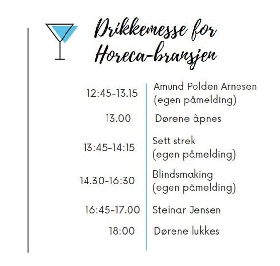 Program Drikkemesse 14 oktober Innkjøpskjeden
