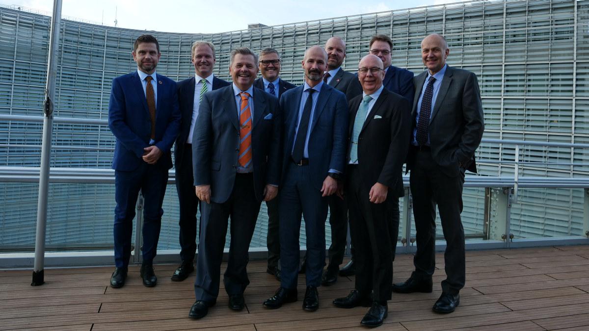 Næringspolitisk utvalg i NHO Mat og Drikke på tur til Brussel.