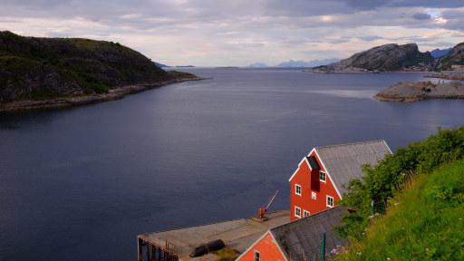 Foto av Nyholmsundet nord for Bodø