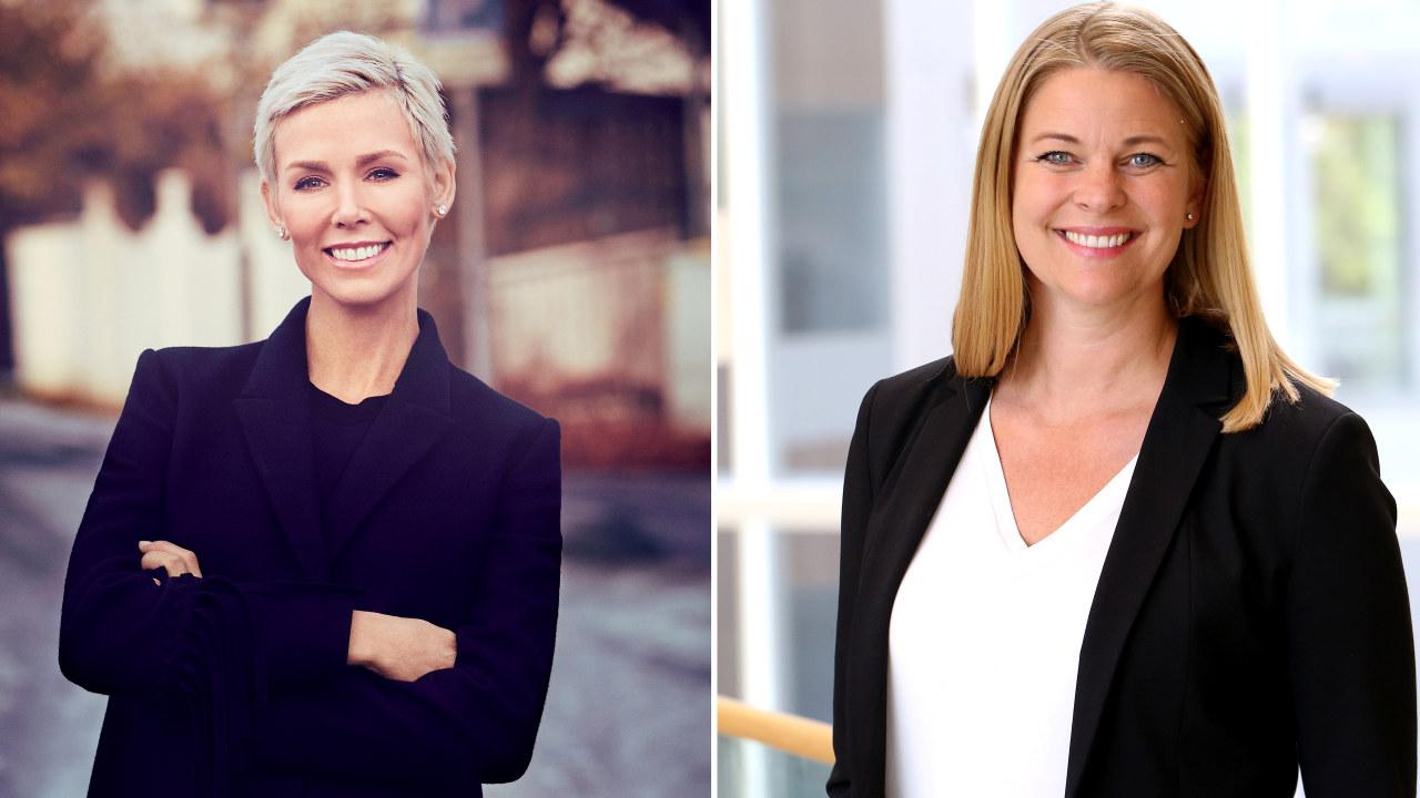 Gunhild Stordalen (til venstre), konsernsjef og grunnlegger av EAT, og Kathinka Friis-Møller, i Compass Group.