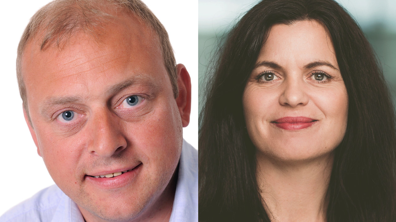 Regiondirektør i NHO Viken Oslo Nina Solli og LOs distriktssekretær i Østfold Ulf Lervik