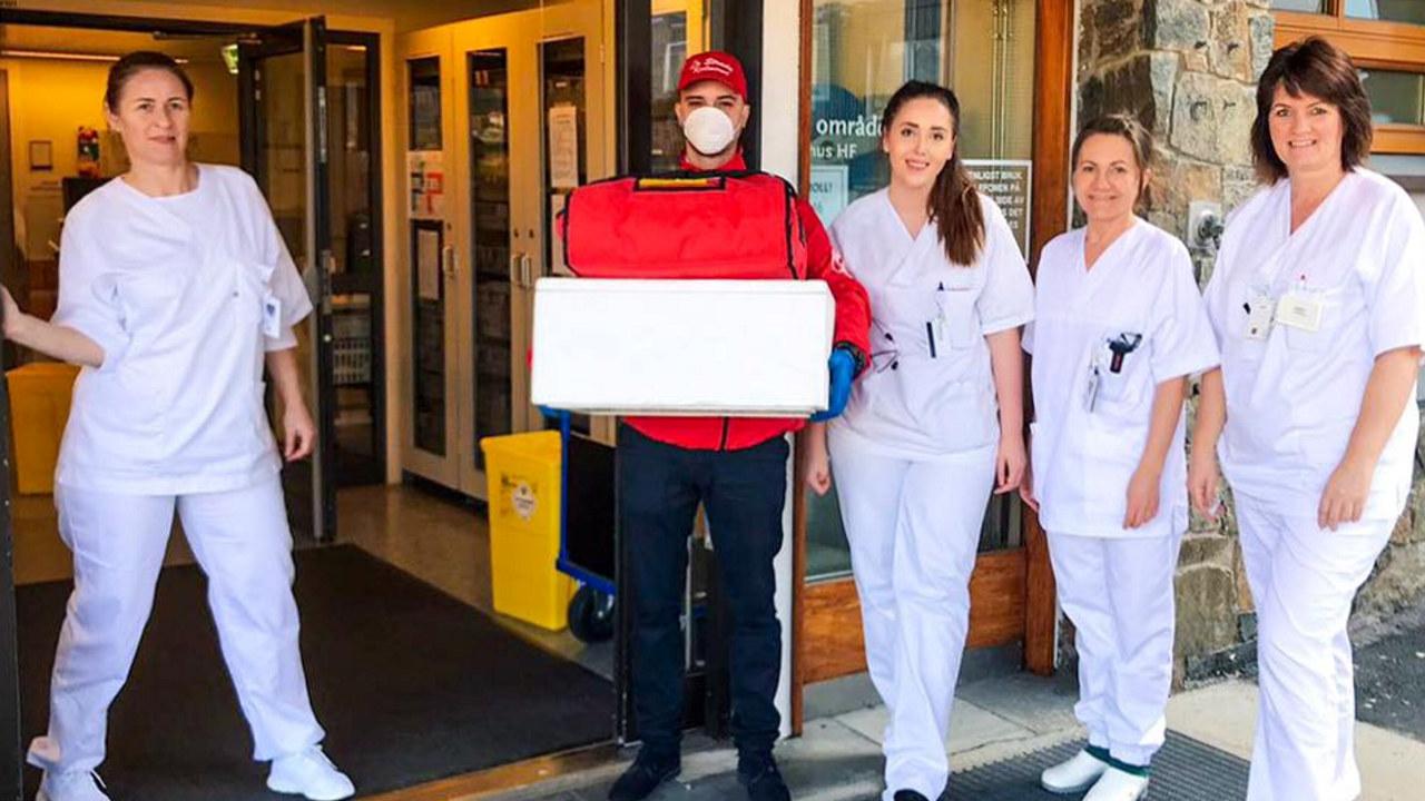 Her ser du La Strada restaurant som leverer gratis mat til sykehus og helsepersonell