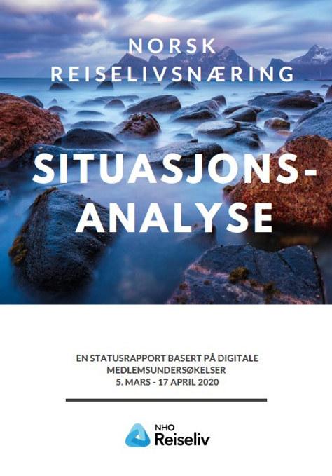 Bilde av forsiden på NHO Reiselivs situasjonsanalyse av norsk reiseliv- andre utgave, publisert 21. april 2020