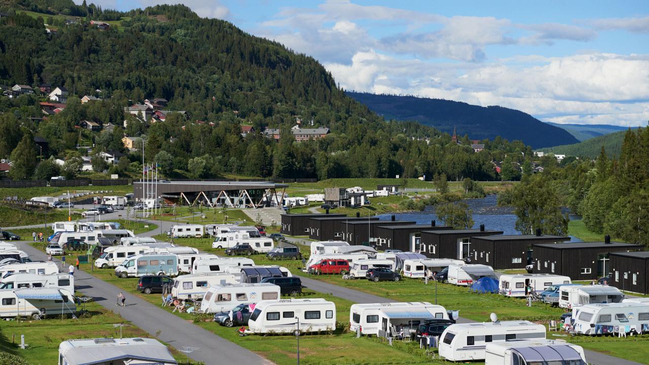 Oversiktsbilde over campingplass
