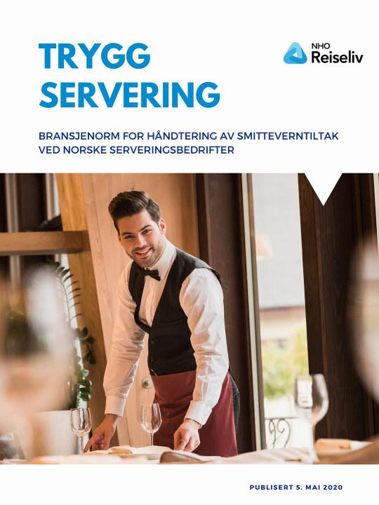 Bilde av forsiden på dokumentet Bransjenorm for håndtering av smitteverntiltak ved norske serveringsbedrifter