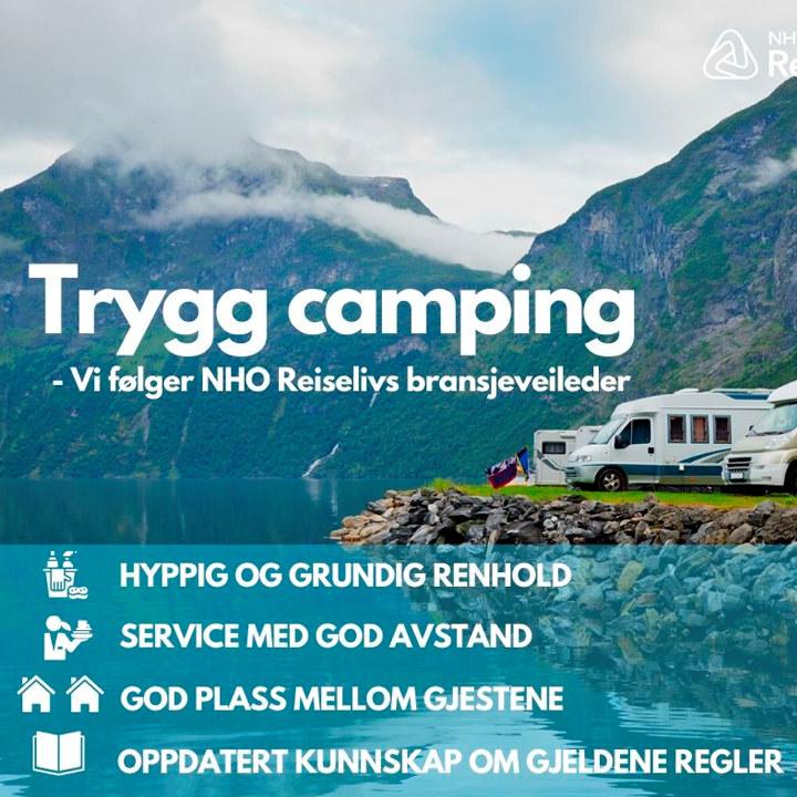 Trygg Camping. Bilde til bruk på Facebook