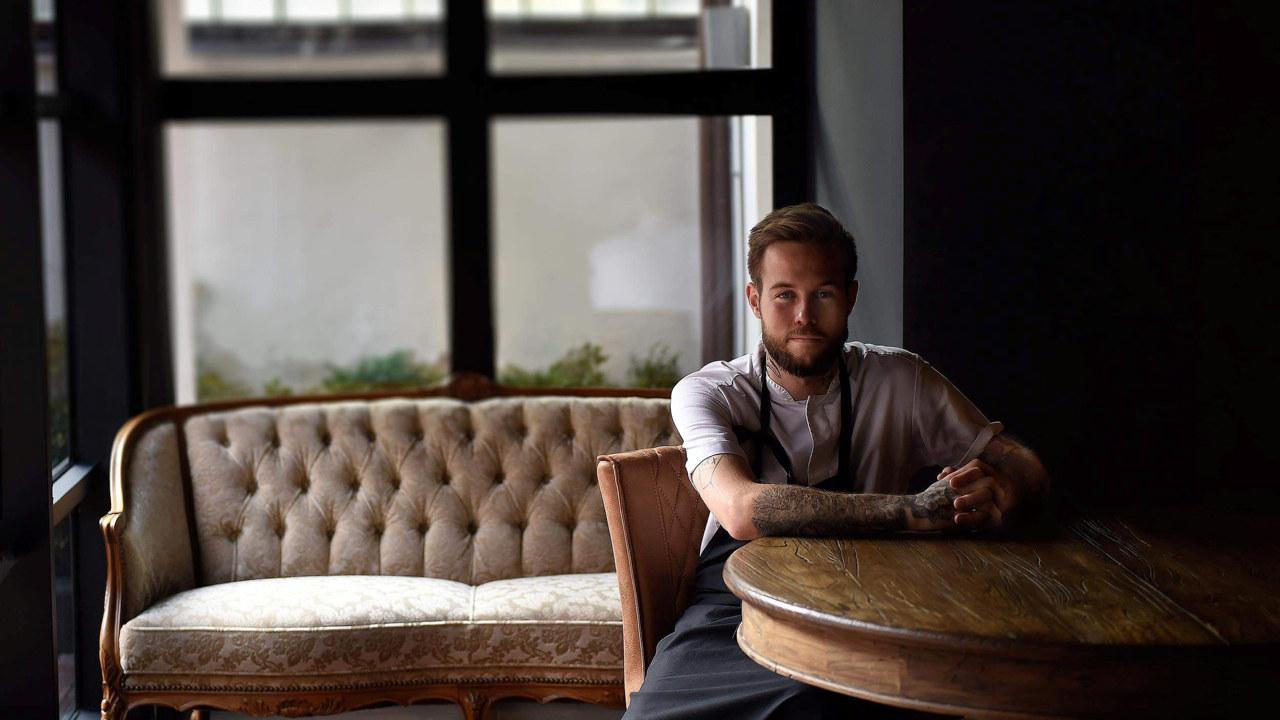 Foto av Jimmy Øyen, kjøkkensjef ved Restaurant Rest. Foto: Oda Hveem.