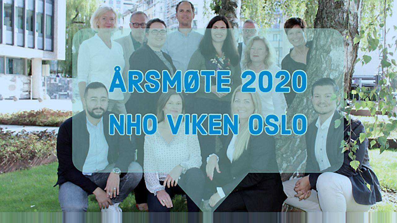 Team NHO Viken Oslo er avbildet utenfor Næringslivets Hus