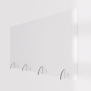 Bilde av smittevernsskjerm i pleksiglass fra Plexon.