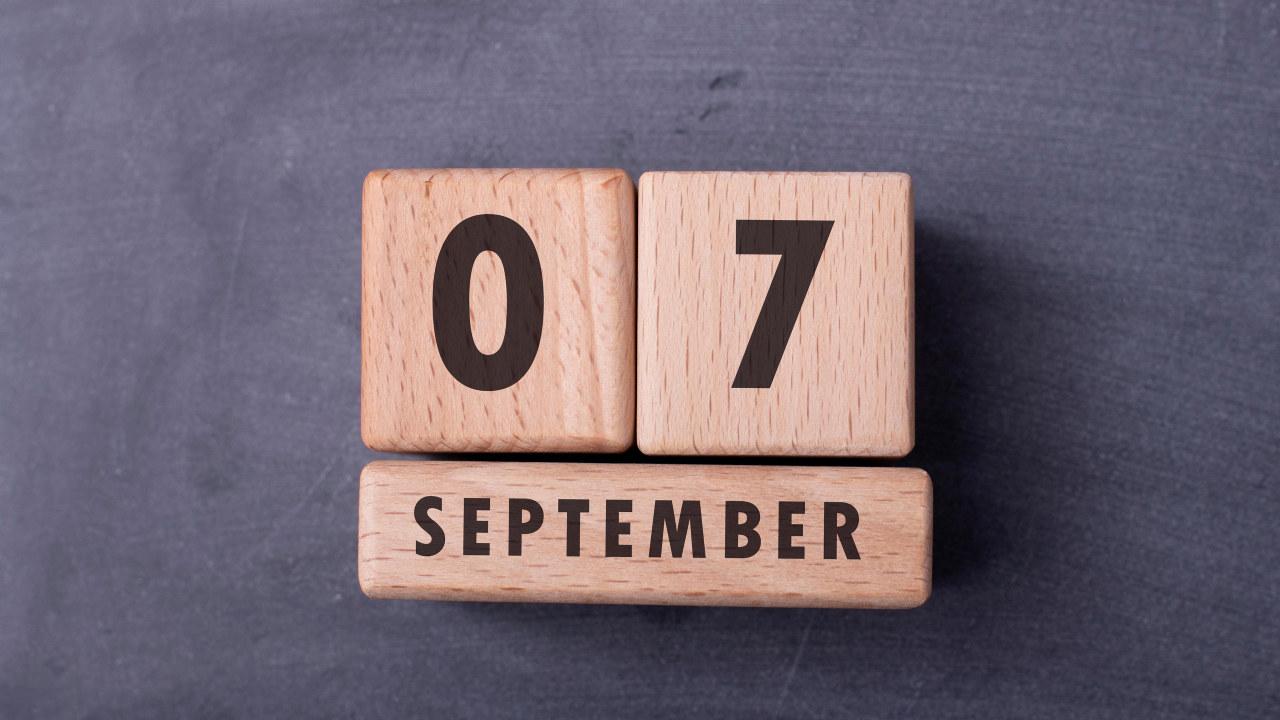 illustrasjonsbild som viuser datoen 7. september.