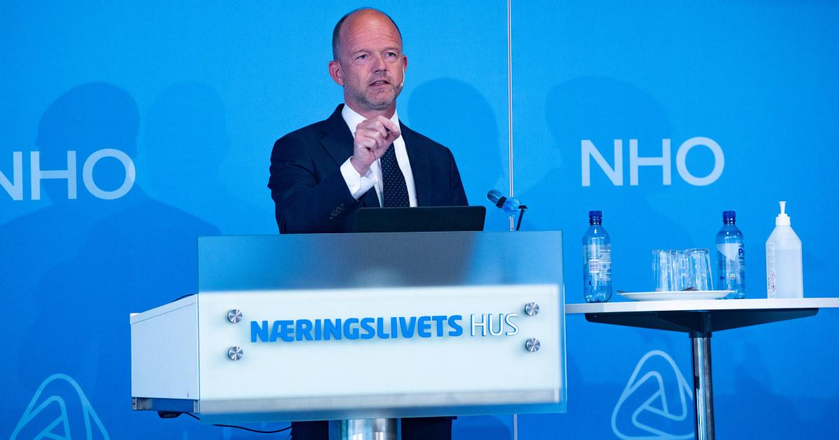 Ole Erik Almlid på medlemsmøte NHO - 02.06.2020