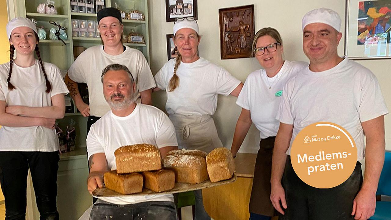 Gjengen som jobber hos baker Kristiansen
