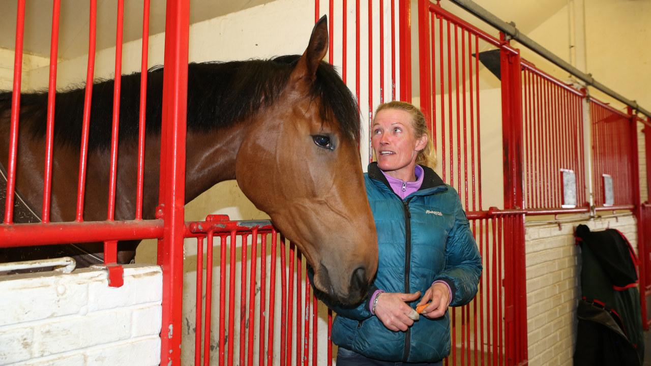 kvinne og hest