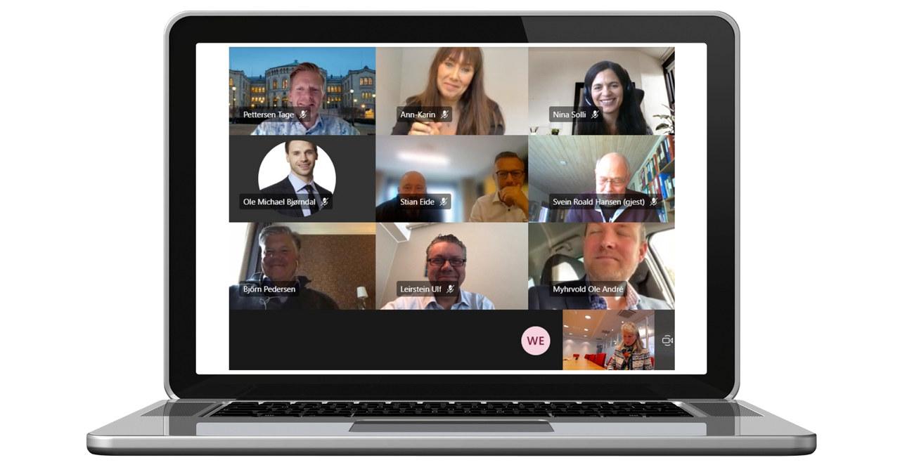 Skjermbilde fra NHO Reiselivs digitale møte med Østfoldbenken 18. september 2020
