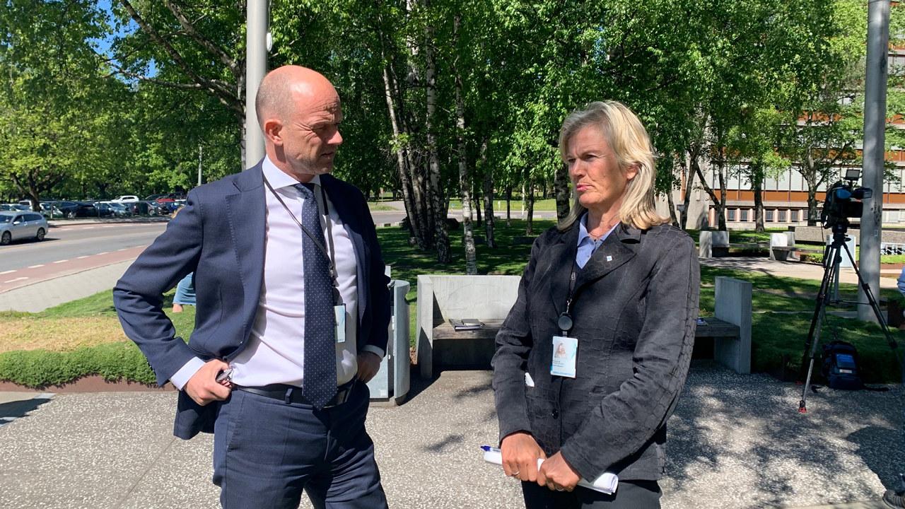 Ole Erik Almlid og Kristin Krohn Devold