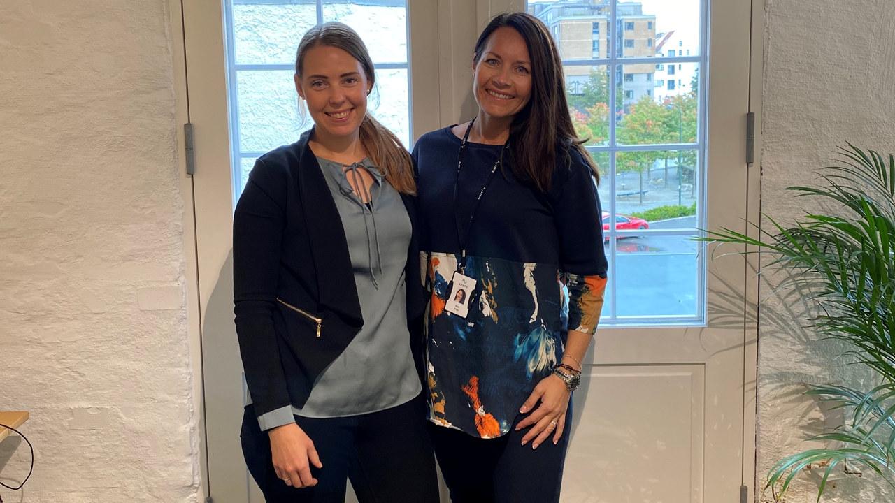 Marielle Ravnås og Elin Friis
