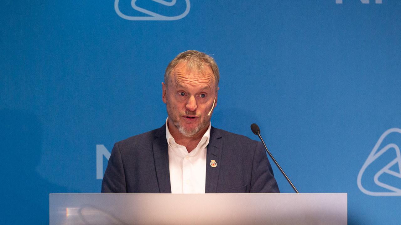 Byrådsleder Raymond Johansen fra Arbeiderpartiet deltok 2. november 2020 på et medlemswebinar i regi av NHO Viken og Oslo. Foto: Per-Otto Oppi Christiansen / NHO.