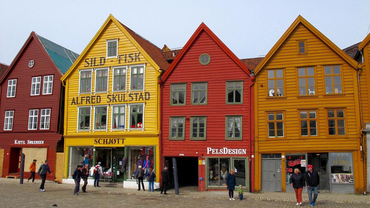 Bryggen i Bergen. Foto: Hervé Lucas fra Pixabay