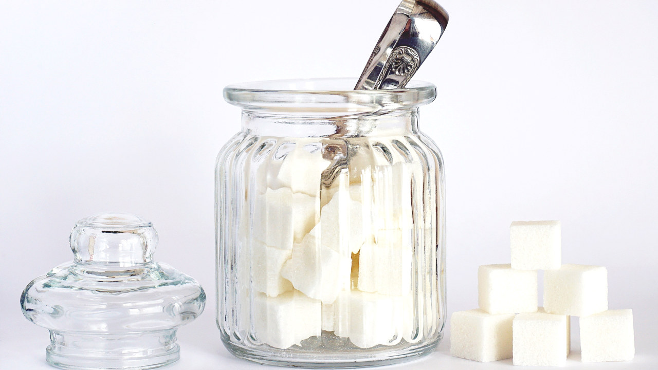 Sukkerbiter i glass