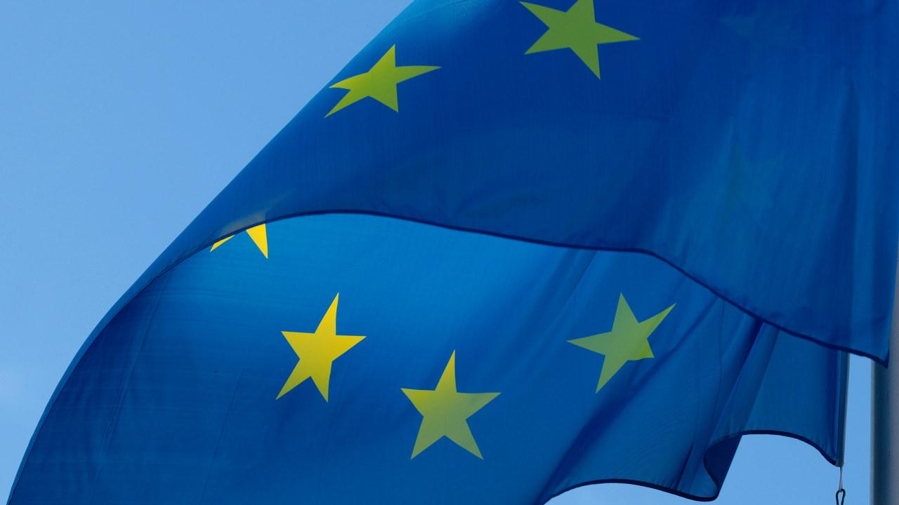 EU flagg i vinden