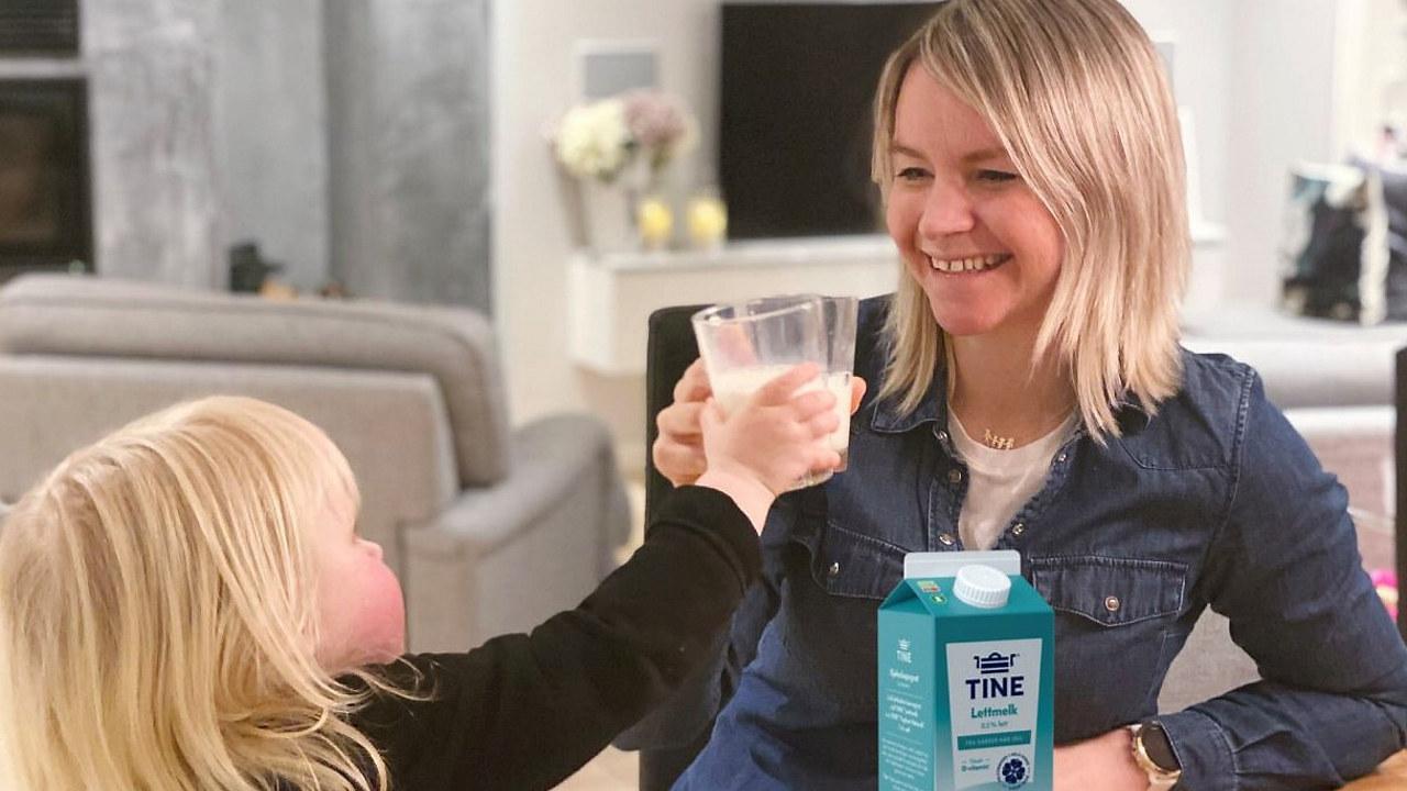 To som drikker melk