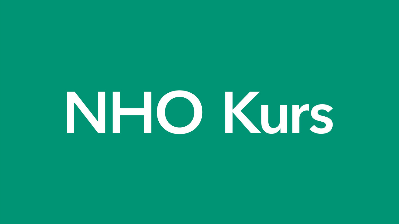 NHO Kurs navntrekk grønn bakgrunn 2