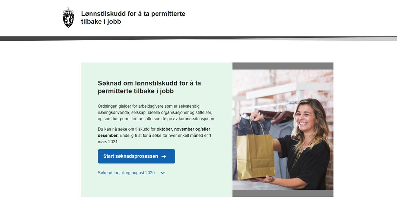 skjermbilde fra lonnstilskudd.no.