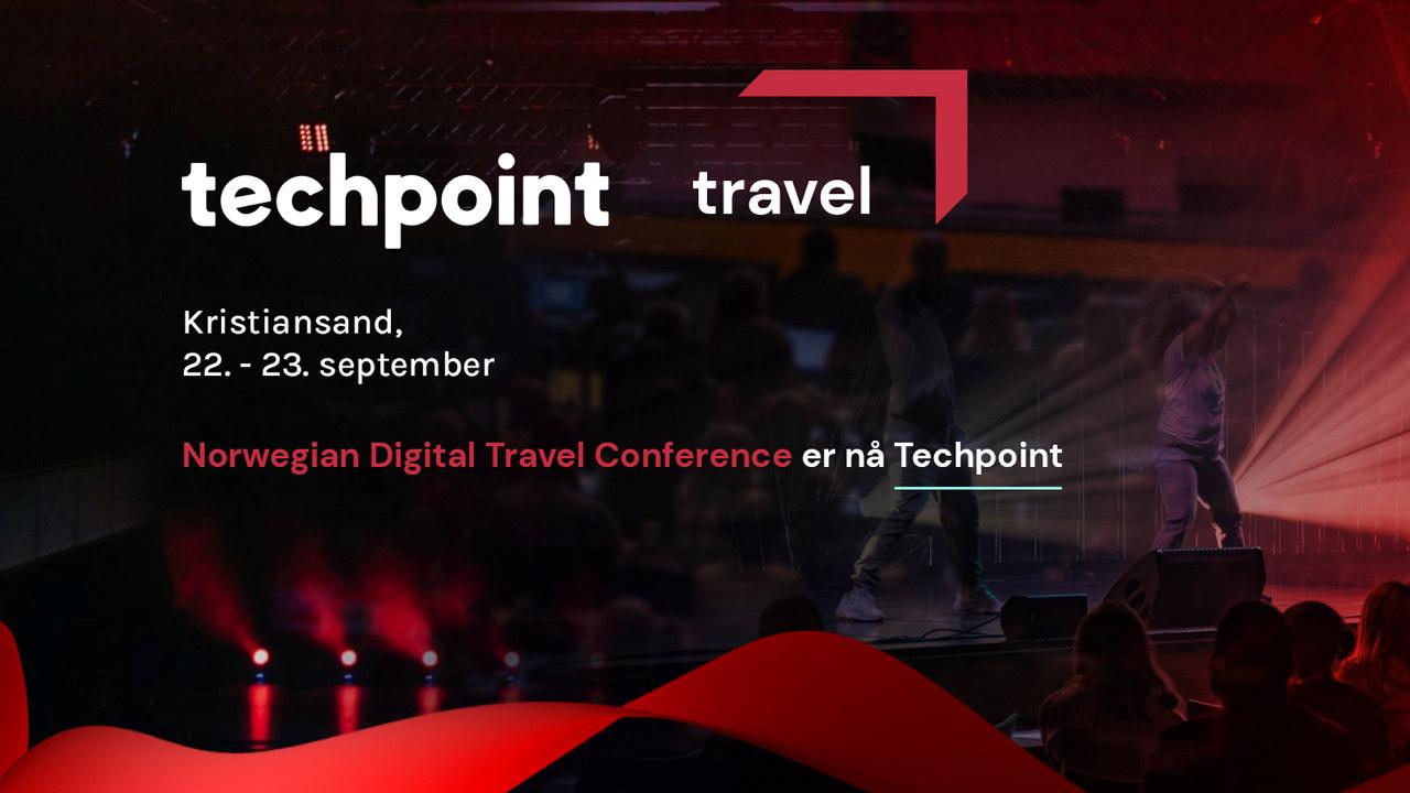 Illustrasjonsbilde med logoen til Techpoint Travel og datoene 22 og 23. september 2021