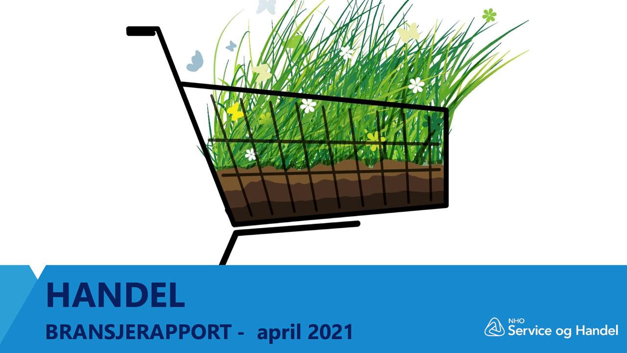 handelkurv med grønne planter