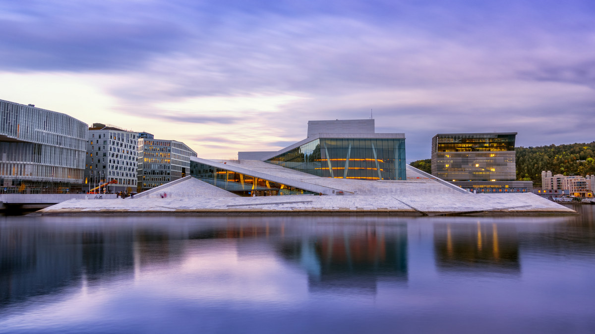 Her ser du Operaen i Oslo