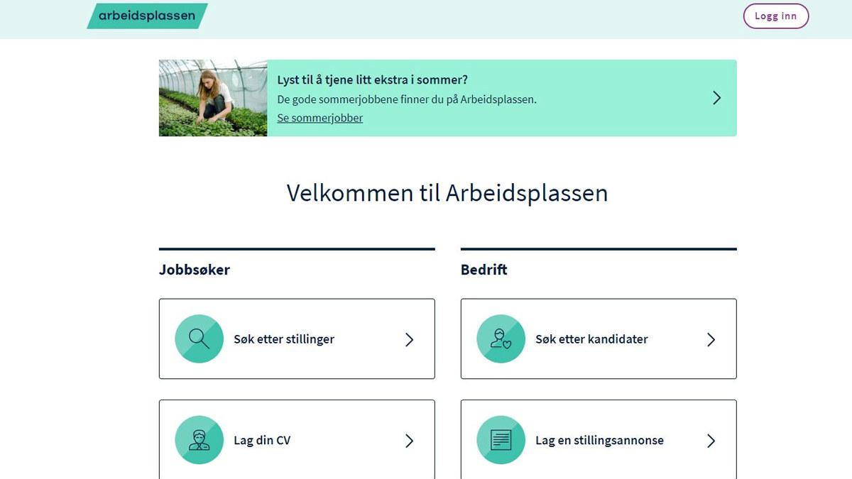 På Arbeidsplassen.no kan man søke etter aktuelle kandidater til å fylle stillinger i gjenåpningen av reiselivet. Foto: Faksimile, Arbeidsplassen.no