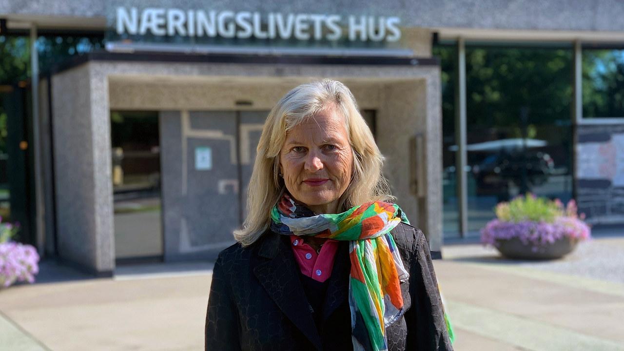 Administrerende direktør i NHO Reiseliv, Kristin Krohn Devold, i Drammen.