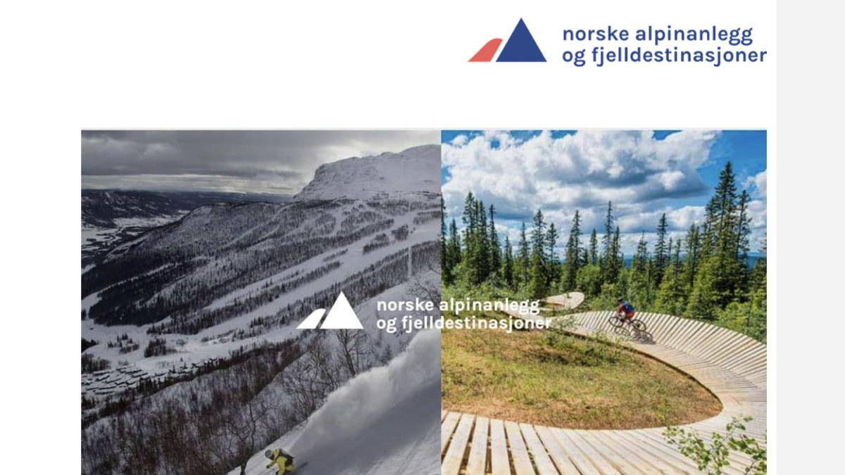 Bilde av forsiden på smittevernveilederen for norske alpinanlegg og fjelldestinasjoner.