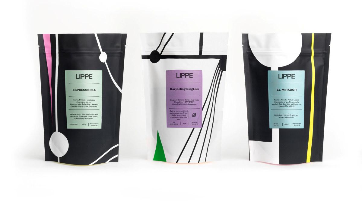 Kaffeposer med LIPPEs design